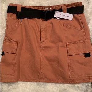 Topshop Utility Denim Skirt NWT